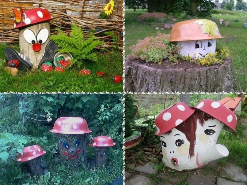 Из чего сделать шляпку гриба