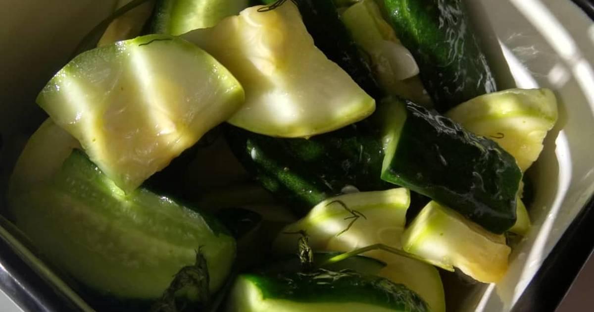 Как быстро заготовить малосольные кабачки