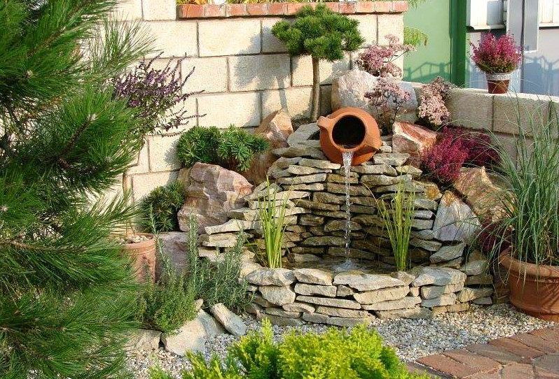 Садовые фонтаны - 90 фото декоративных проектов своими руками