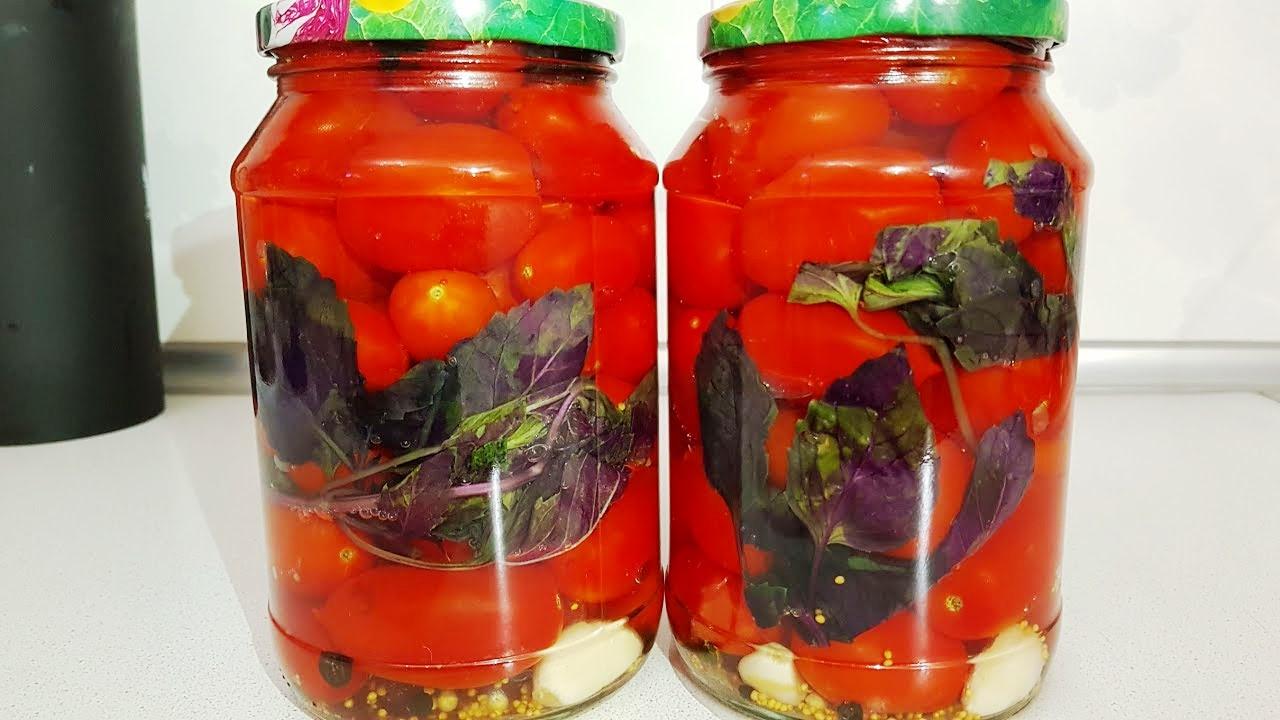 Рецепты маринования помидоров с базиликом на зиму - всё про сады