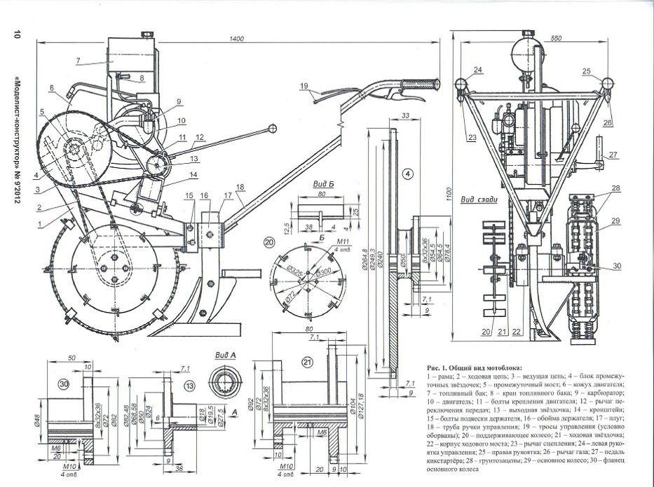 Изготовление электрокультиватора имотоблока своими руками