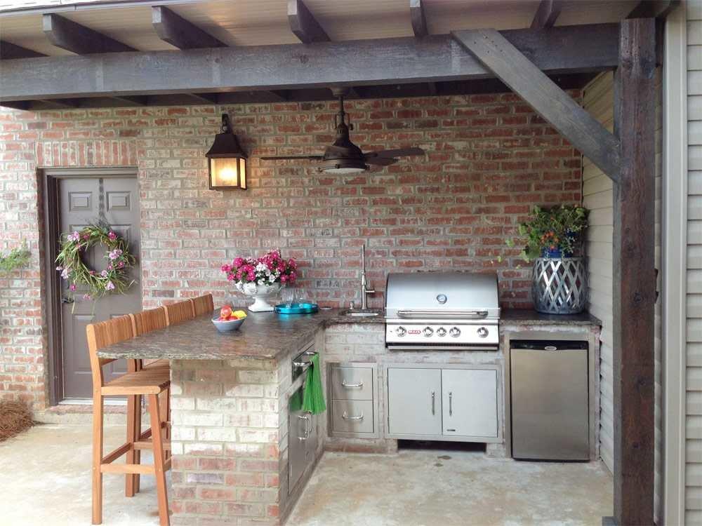 Как построить летнюю кухню – простая конструкция из дешевых материалов