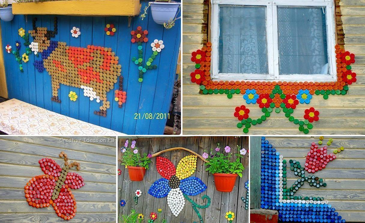 Поделки из крышек: что можно сделать своими руками из крышек и пробок к новому году в школу или детский сад