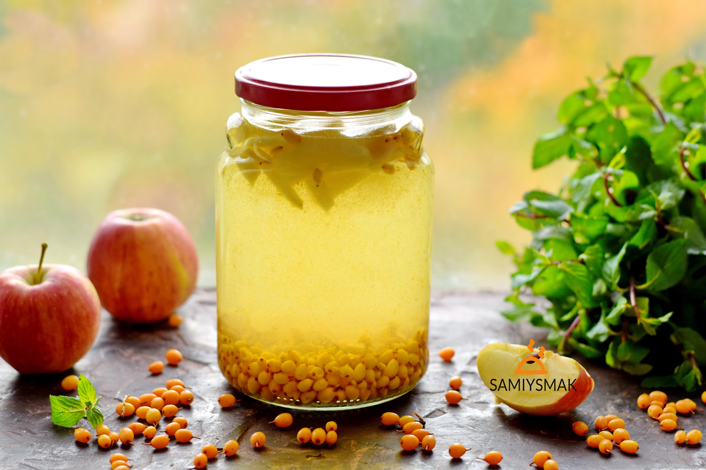 Витаминный компот из облепихи с яблоками - рецепты с фото пошагово