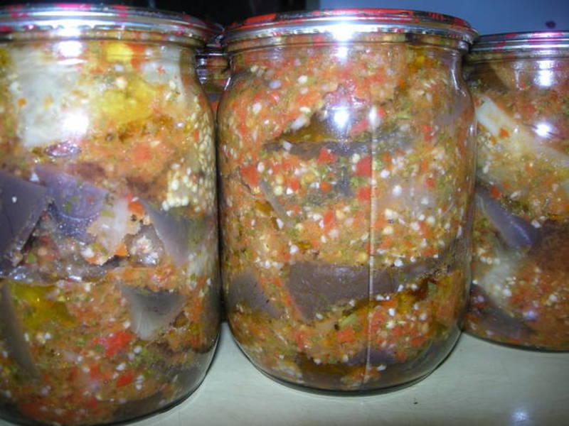Баклажаны на зиму тещин язык пошаговый рецепт