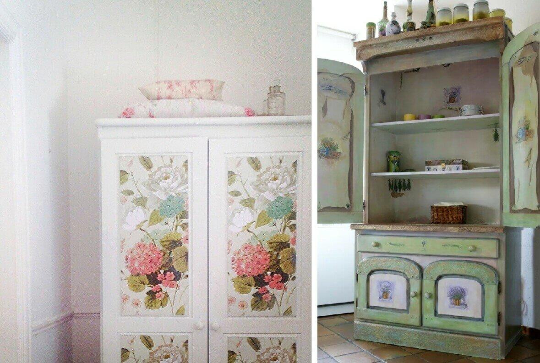 Декупаж мебели - 130 фото примеров современных вариантов отделки