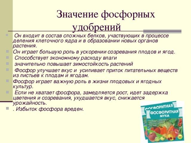 О фосфорных удобрениях подробно. описания, разновидности, названия — ботаничка.ru
