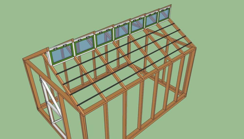 Этапы составления чертежей и строительства деревянной теплицы своими руками