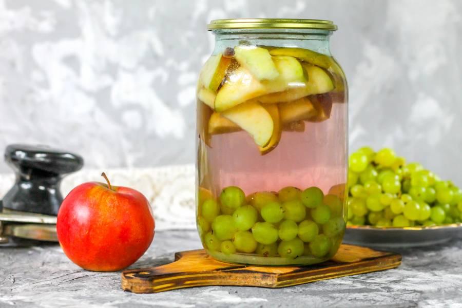 Компот из винограда на зиму на 3 литровую банку — 5 лучших рецептов