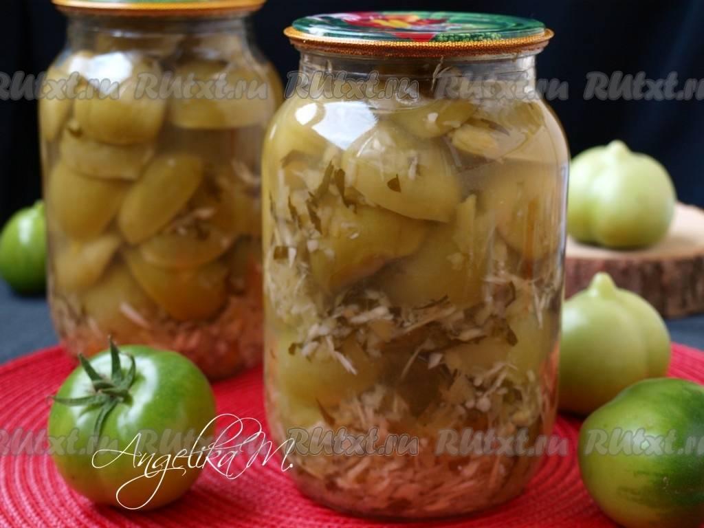 9 лучших рецептов приготовления маринованных помидоров с хреном и чесноком на зиму