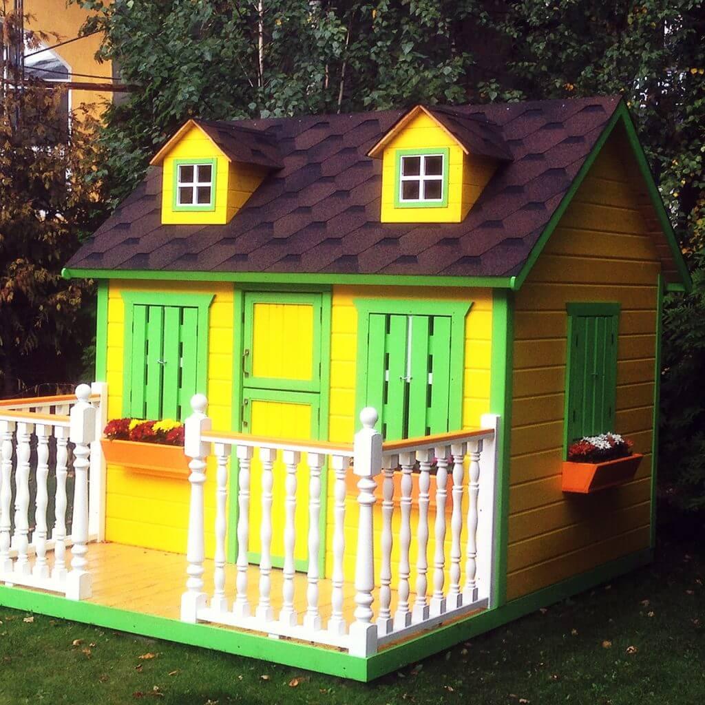 Домик для детей из дерева своими руками: как сделать надежный и красивый? 185+ (фото) проектов для дачи