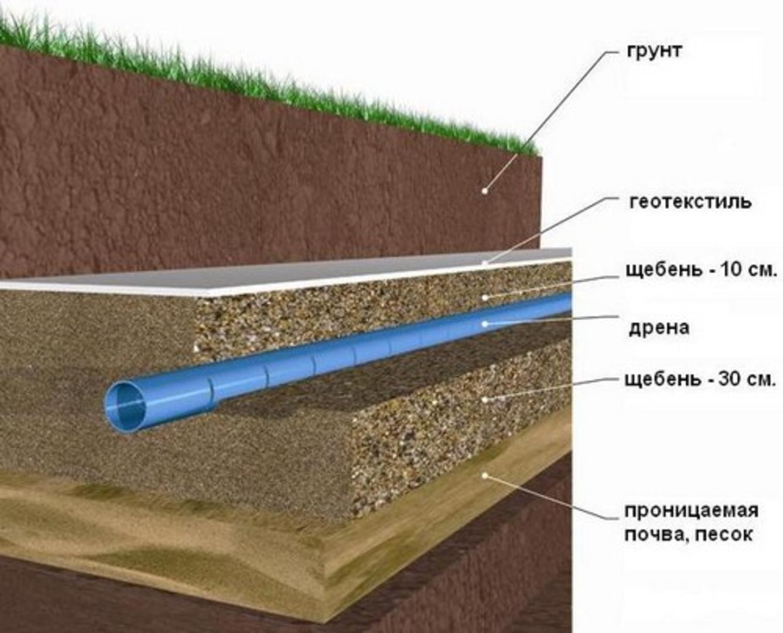 Как сделать дренаж участка при высоком уровне грунтовых вод