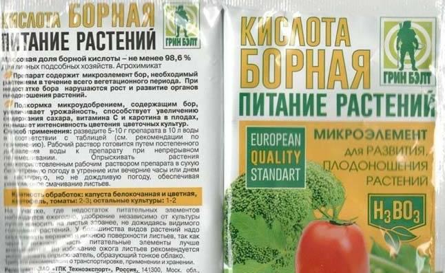 Использование борной кислоты при выращивании картофеля
