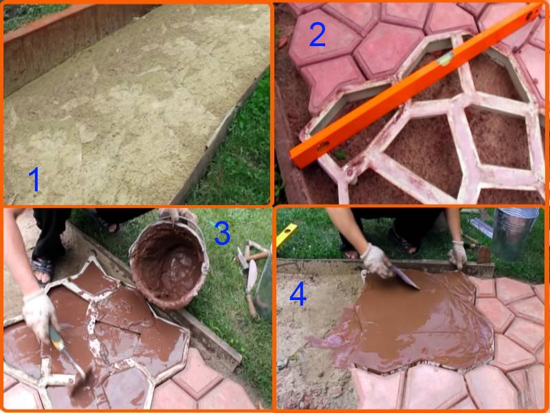 Пластиковая плитка для садовых дорожек :преимущества,виды,укладка своими руками