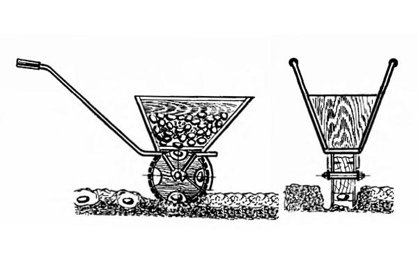 Сеялка для мотоблока: чеснока, сажалка, чеснокосажалка, своими руками, точного высева, чертеж ручной, видео, фото, цена
