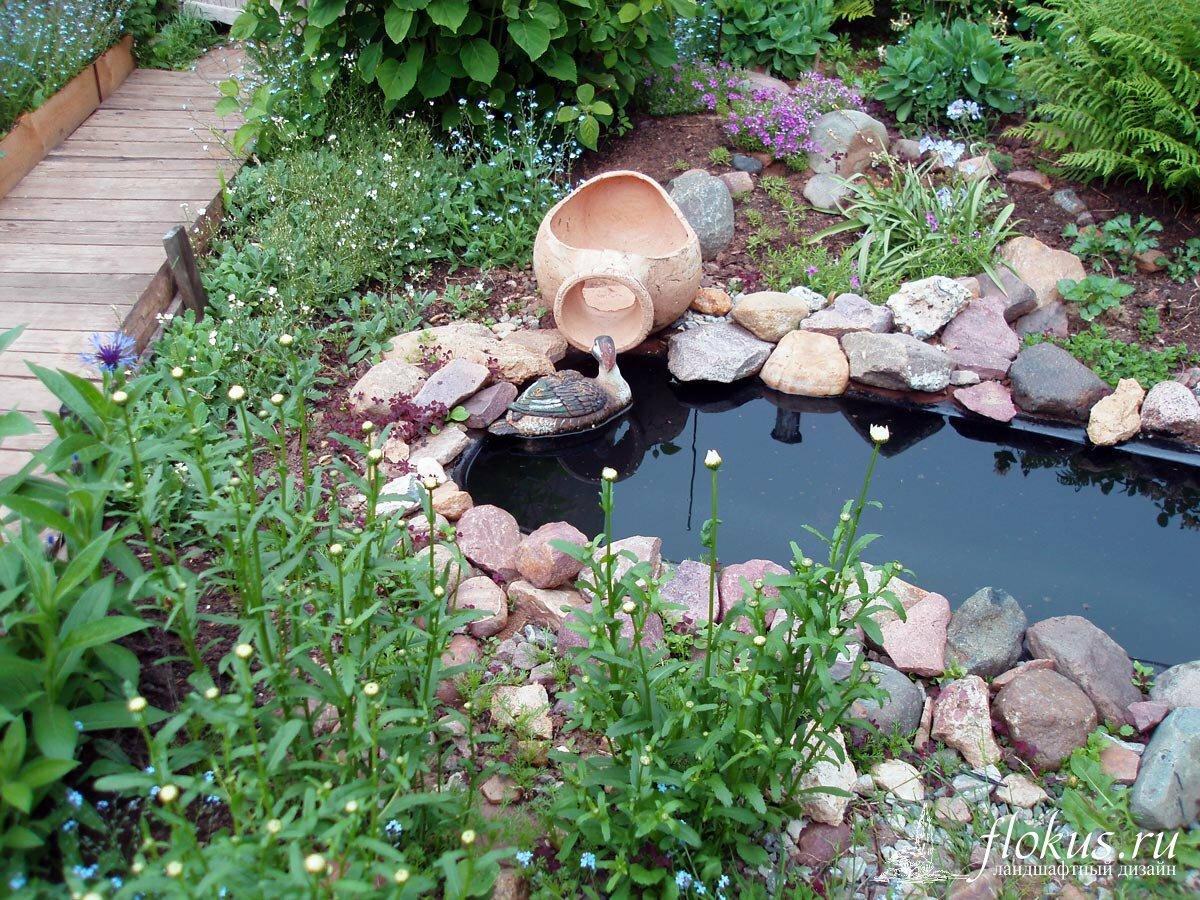 Искусственный водоем на даче своими руками из камня, покрышек, старого таза