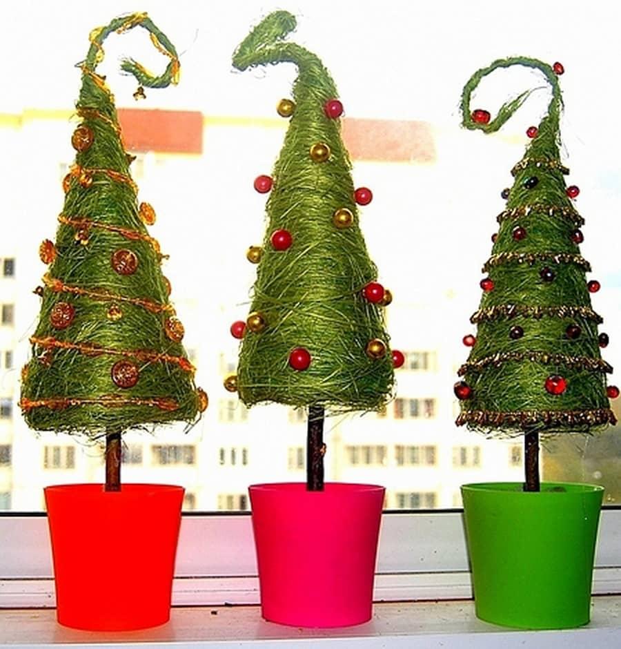 Как сделать топиарий в форме елочки на Новый год