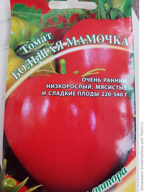 """Томат """"большая мамочка"""": описание и характеристики сорта, рекомендации по уходу и выращивания, а так же фото-материалы русский фермер"""