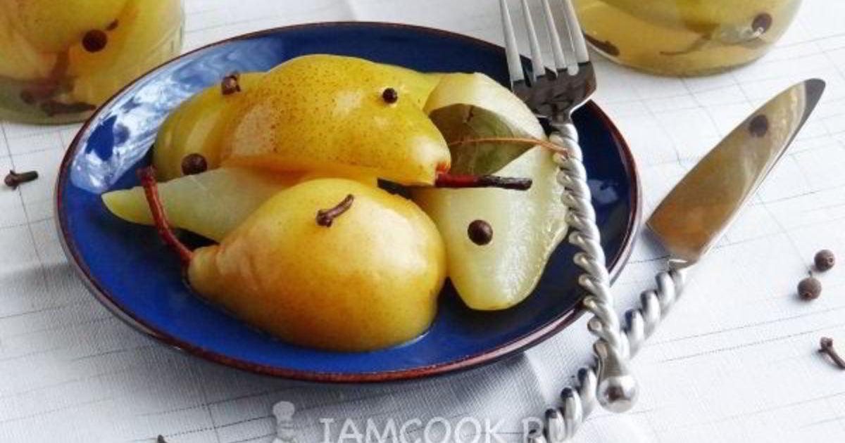 Маринованные груши на зиму: 9 простых пошаговых рецептов приготовления