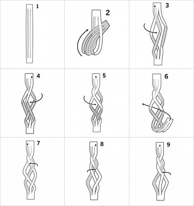 Пошаговые схемы плетения лука в косы для хранения и сушки - всё про сады