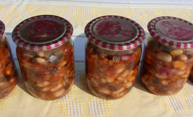 Баклажаны с фасолью на зиму: пошаговый рецепт быстро и просто от марины выходцевой