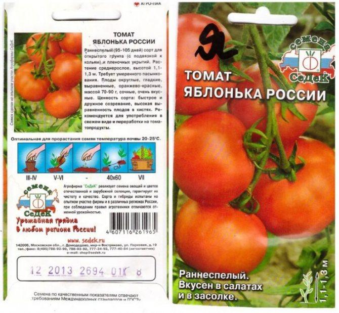 Томат яблонька россии - описание сорта, характеристики и правила посадки семенами и рассадой