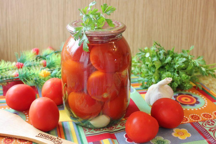 Топ 6 вкусных рецептов консервированных помидор с чесноком на зиму