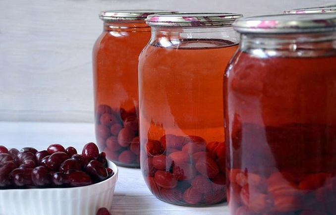 Компот из кизила с яблоками -пошаговый рецепт с фото