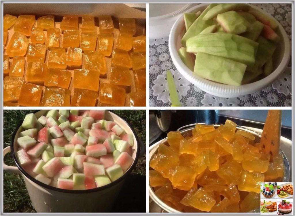 Цукаты из арбузных корок. рецепт
