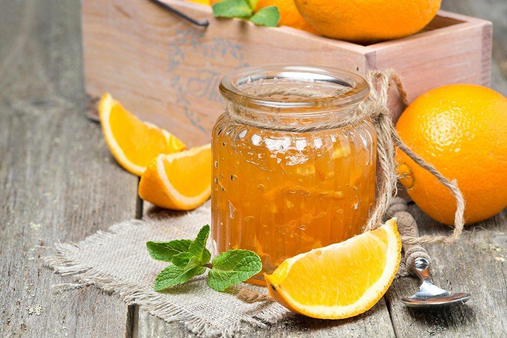 Рецепты янтарного варенья из груш с апельсином дольками, одним этапом