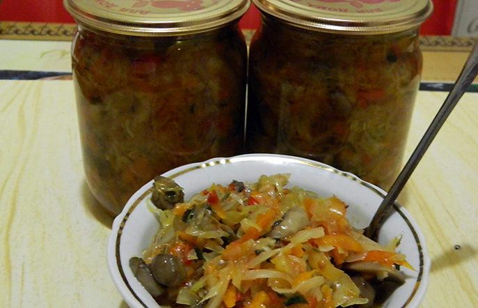 Грибная солянка с капустойна зиму - самый вкусный рецепт