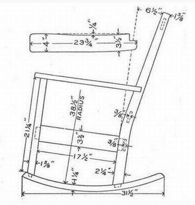 Кресло качалка своими руками - чертежи, фото и проекты самых простых и оригинальных кресел (85 фото)